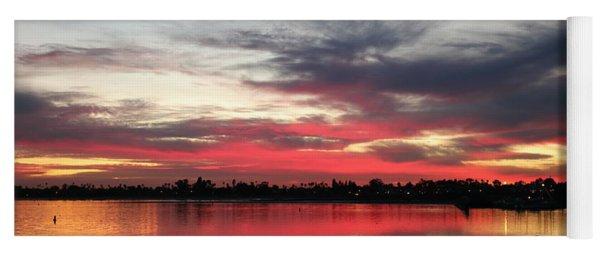 Sunset Over Mission Bay  Yoga Mat