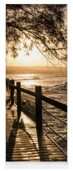 Sunset Over Ocean Walkway Yoga Mat