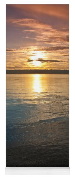 Sunset Over Puget Sound Yoga Mat