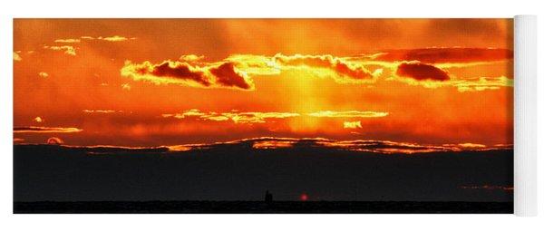 Sunset Over Sound Yoga Mat