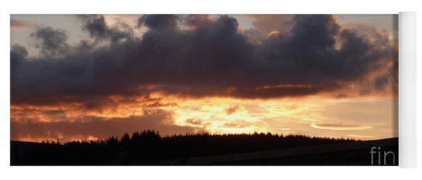 Sunset Over The Forest Yoga Mat