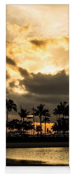 Sunset Over Waikiki Yoga Mat