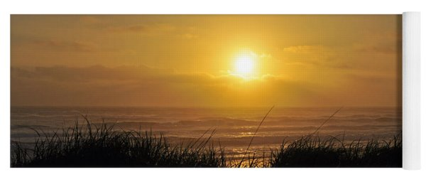 Sunset Overlooking Westport Grassy Dunes  Yoga Mat