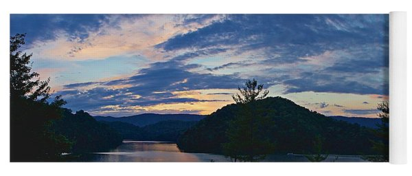 Sunset Pano - Watauga Lake Yoga Mat