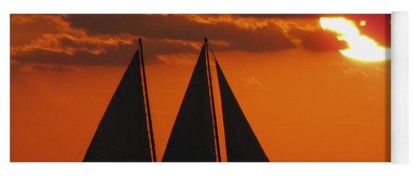 Key West Sunset Sail 3 Yoga Mat