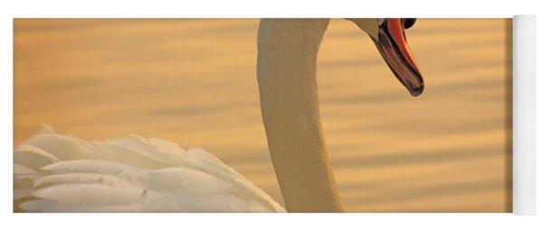Sunset Swan Yoga Mat