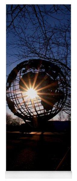 Sunset Through The Unisphere Yoga Mat