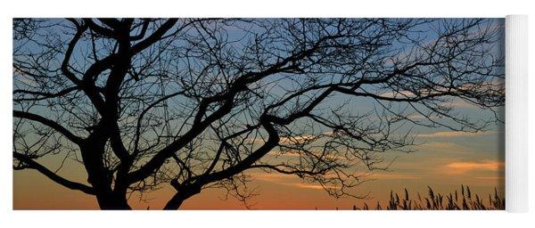 Sunset Tree In Ocean City Md Yoga Mat