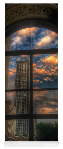 Sunset View Of Chicago Yoga Mat