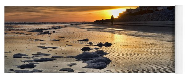Sunset Wild Dunes Beach South Carolina Yoga Mat