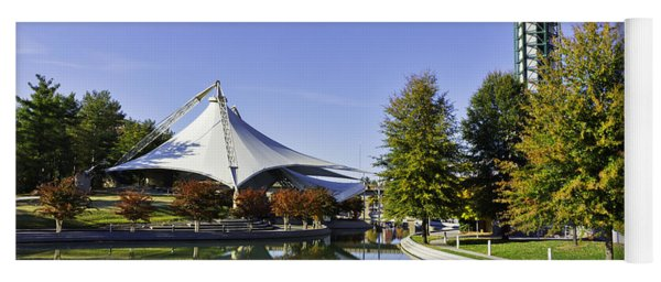 Sunsphere In The Fall Yoga Mat