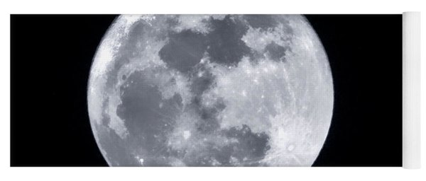 Super Moon Over Arizona  Yoga Mat