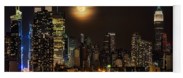 Super Moon Over Nyc Yoga Mat