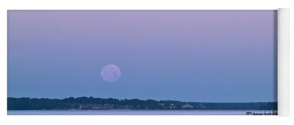Super Moon Setting-1 Yoga Mat