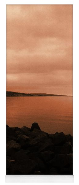 Yoga Mat featuring the photograph Superior Glow by Gina Bonelli
