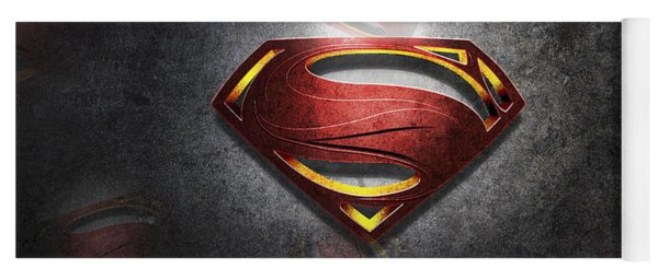 Superman Man Of Steel Digital Artwork Yoga Mat