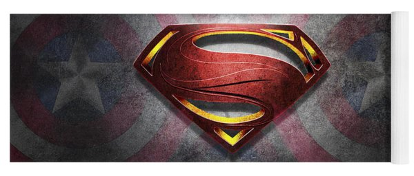 Superman Symbol Digital Artwork Yoga Mat