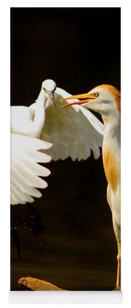 Suprised Cattle Egret Yoga Mat