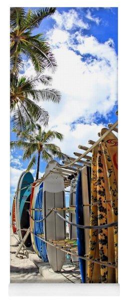 Surf And Sun Waikiki Yoga Mat