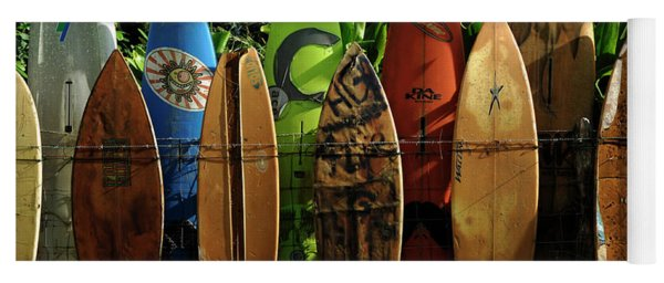Surfboard Fence 4 Yoga Mat