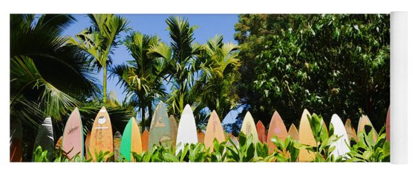 Surfboard Fence - Left Side Yoga Mat
