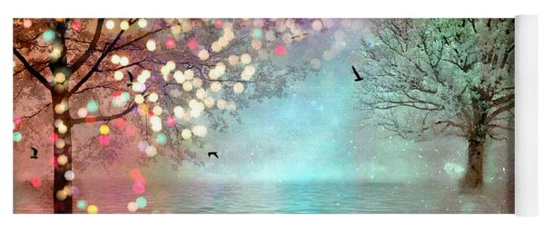 Fairytale Fantasy Trees Surreal Dreamy Twinkling Sparkling Fantasy Nature Trees Home Decor Yoga Mat