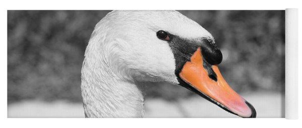 Swan Closeup Yoga Mat