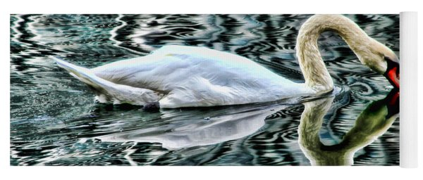 Swan On Lake Eola By Diana Sainz Yoga Mat