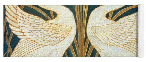 Swan Rush And Iris Yoga Mat