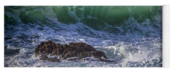 Swells In Doninos Beach Galicia Spain Yoga Mat