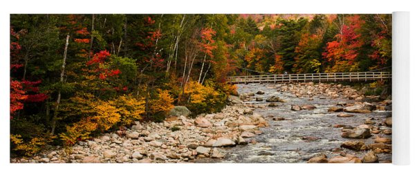 Swift River Painted With Autumns Paint Brush Yoga Mat