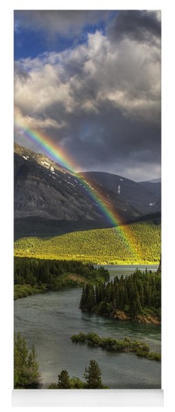 Swiftcurrent River Rainbow Yoga Mat