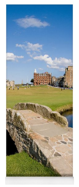 Swilcan Bridge On The 18th Hole At St Andrews Old Golf Course Scotland Yoga Mat