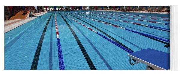 Swimming Pool At Grand Hotel Polyana Yoga Mat