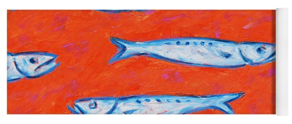 Swimming Upstream Yoga Mat
