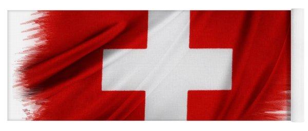Swiss Flag Yoga Mat
