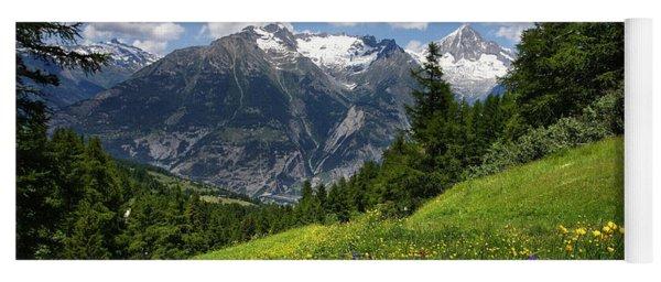 Switzerland Bietschhorn Yoga Mat
