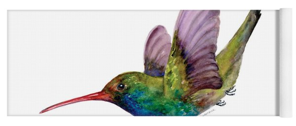 Swooping Broad Billed Hummingbird Yoga Mat