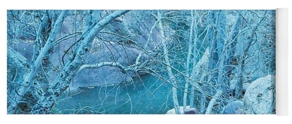 Sycamores And River Yoga Mat