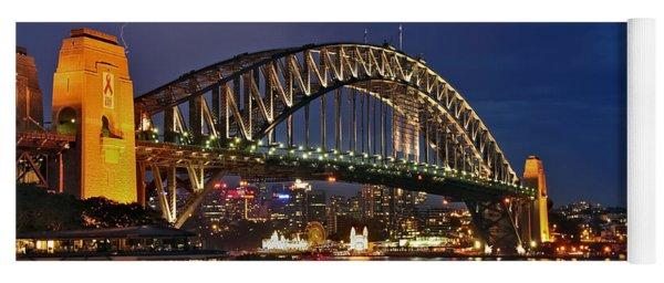 Sydney Harbour Bridge By Night Yoga Mat