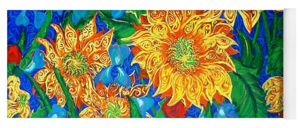 Symphony Of Sunflowers Yoga Mat