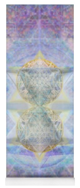 Synthecentered Doublestar Chalice In Blueaurayed Multivortexes On Tapestry Lg Yoga Mat