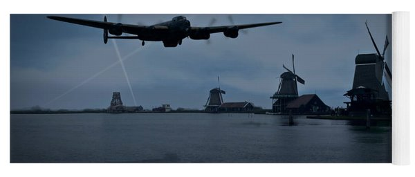 Dambusters Lancaster T For Tommy En Route To The Sorpe Yoga Mat