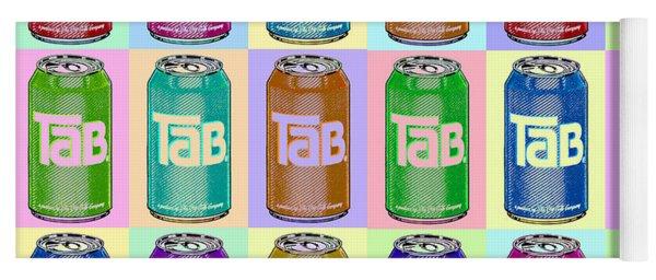 Tab Ode To Andy Warhol Repeat Horizontal Yoga Mat