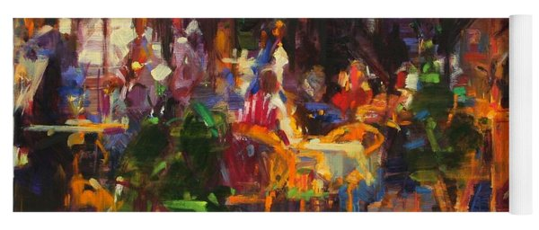 Table At Villefranche Oil On Canvas Yoga Mat