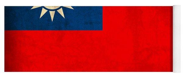 Taiwan Flag Vintage Distressed Finish Yoga Mat