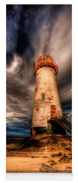 Yoga Mat featuring the photograph Talacre Lighthouse by Adrian Evans