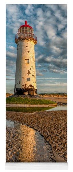 Talacre Lighthouse Sunset Yoga Mat