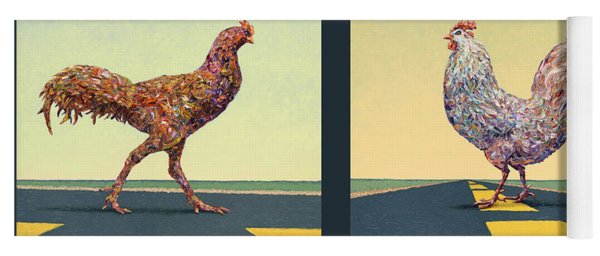 Tale Of Two Chickens Yoga Mat