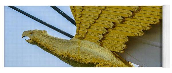 Tall Ship Uscg Barque Eagle Masthead Yoga Mat